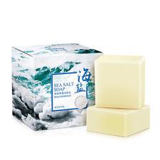 1PC Handmade Sea Salt Soap Goat Milk Bar Soap Skin Deep Cleansing Natural Soap