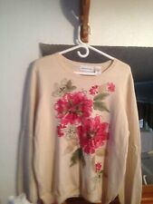 New Alfred Dunner Cedar Creek Sweater L Large