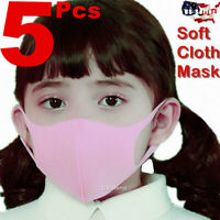 5pcs Boys Girls Kids Child Unisex Face Mask Fashion Washable Cover Masks Kid