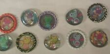 10 neon kitty cat themed bottle cap & glass gem magnets cupcake toppers stocking