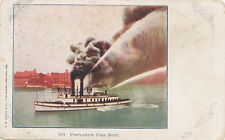 Portland OR * Fire Boat in Action ca. 1906 *