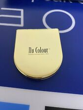 """Cute Nu Colour Travel Dual Compact Mirror - around 2"""" x 2.5"""" in Gold Color"""