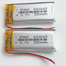 2 pcs 3.7V 550mAh Li po Rechargeable Battery For Mp3 GPS MP4 PSP Speaker 602045