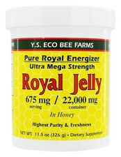 YS Organic Bee Farms Royal Jelly In Honey Energizer Ultra Mega Strength 22000 mg