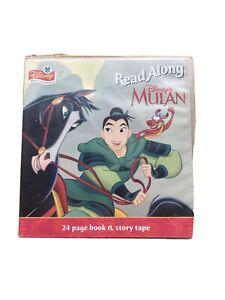 Disney Music & Stories Read Along - Mulan 24 Page Storybook & Tape 1998 vintage