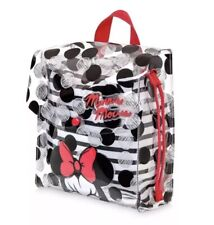 Nwt Disney Store Minnie Mouse Swim Bag Backpack Drawstring Red Black Polka Dots!