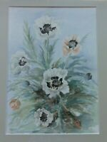 Original Watercolour painting  of Poppies  by Suffolk Artist Beryl Jenkinson