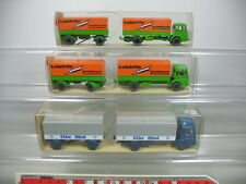 ab14-0, 5 #3X Wiking H0 424 Trailer Truck/Truck Man: Elbe Fruit + LEISTRITZ, NIP