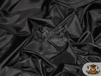 """Taffeta Solid Fabric BLACK / 58"""" Wide / Sold by the yard"""