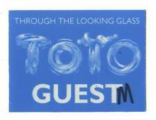 TOTO - Through the looking glass Tour - Konzert-Satinpass - Guest - Sammlerstück