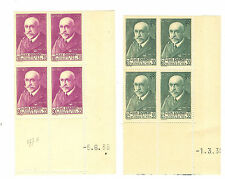 TIMBRES FRANCE BLOC DE 4 COINS DATE YVERT N° 377 + 377A JEAN CHARCOT