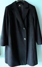 manteau EMILIA LAY PETER HAHN grande taille 54 100% pur cachemire noir com neuf