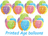 Birthday Age Balloons High Quality Inflatable Air/Helium Latex Party Decoration