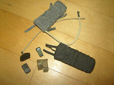 DAM & Other 1/6 Scale 2 Hydration Pouches, PDA, MS 2000, & Multicam Admin Pouch