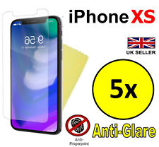 5x HQ ANTI GLARE MATTE SCREEN PROTECTOR COVER GUARD FILMS FOR APPLE IPHONE XS