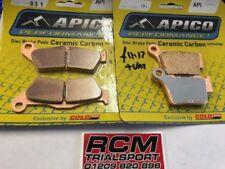 APICO FRONT & REAR BRAKE PADS FOR HUSQVARNA FC250 FC350 FC450 2016 TYP 031 & 191