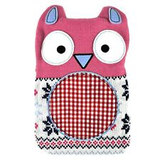 Hot Buddies Novelty Pink Owl Hot Water Bottle With Removable Knitted Cover