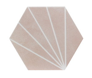 Lilypad Matt Glazed Porcelain Wall & Floor Tiles- Rose/Mint/Sea Blue - per SQM
