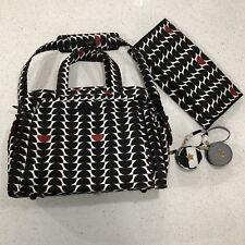 Ju Ju Be Be Prepared Black Widow Diaper Bag With 2 Pacifier Holders