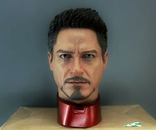 1/4 Tony Stark Head Sculpt Body Bruce Wayne Suit MK 45 43 Hot Toys T800 Enterbay