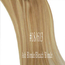 """Black Brown White Blonde Clip In Remy Human Hair Extensions Full Head 20"""" 22"""" A7"""