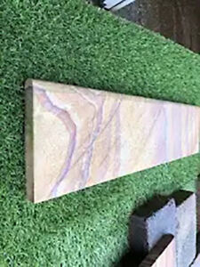 40 SMOOTH REAL SANDSTONE PATIO EDGING 600X150X20 RAINBOW  21743 DEL INCL
