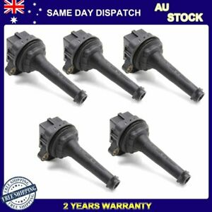 5 Ignition Coil Pack For Volvo C70 S60 S70 S80 V70 XC90 XC70 Cross Country Turbo
