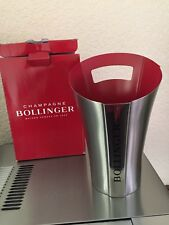 BOLLINGER CHAMPAGNE ICE BUCKET COOLER BRAND NEW DESIGN STAINLESS STEEL BOXED