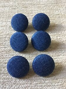 *CLEARANCE* 6 Denim Blue 36L/23mm Upholstery Buttons (Lot 59)