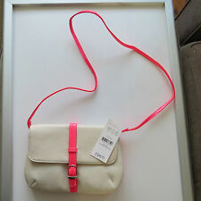 Beige and bright pink cross the body bag brand new with tag
