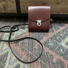 The Cambridge Satchel Company Burgundy Leather Small Crossbody Bag