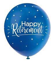 Happy Retirement Balloons Various Coloured Latex Balloons