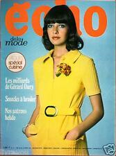 ▬► Echo de la Mode N° 11 de 1972 GERARD OURY_MARIE-FRANCE PISIER