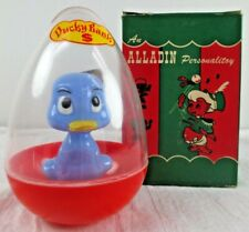 VINTAGE ALLADIN ROLY POLY PLASTIC DUCK DUCKY BANK IN BOX UNUSED