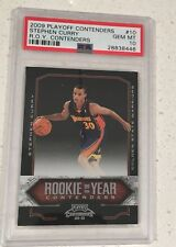 2009-10 Stephen Curry Panini Playoff Contenders R.O.Y.  RC ROOKIE PSA 10 GEM
