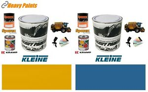 Kleine Machinery Yellow & Blue Paint High Endurance Enamel Paint 1 Litre Tins