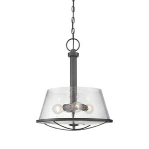 Designers Fountain Darby Pendant, Weathered Iron - 87031-WI