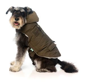 Khaki Nomad Jacket by FuzzYard - Dog Coat, Stylish, Hooded, Winter Apparel,Walks