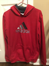Adidas Pullover Hoodie Red Youth XL-18 Boys