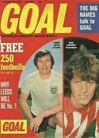 GOAL football magazine A4 COVER retro picture poster Liverpool - VARIOUS