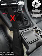 BLACK STITCH REAL LEATHER SHIFT & E BRAKE BOOT FITS MITSUBISHI 3000GT GTO 90-01
