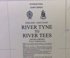 ADMIRALTY SEA CHART. No.152. RIVER TYNE to RIVER TEES. ENGLAND EAST COAST. 1975.
