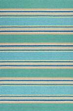 "Area Rugs - ""Seashore Stripes"" Indoor Outdoor Rug - 5' X 7'6"" - Nautical Decor"