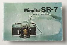 Bedienungsanleitung Minolta SR-7 SR7 SR 7 instruction