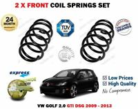 FOR VW GOLF 2.0 GTI MK 6 VI DSG 2009-2013 2 X FRONT COIL SPRINGS SET 1K0411105JG