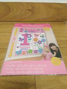 Wall Decorating Kit 1st Birthday Girl