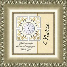 Nurse Table Clock  ~ God Bless you for the time and care you give ~ Thank You
