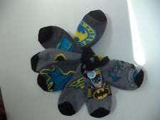 Seven Pair Of Boys Ankle Batman Socks Shoe Size Large 4-9