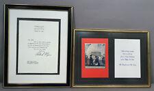 1970's Original Richard Nixon Autograph Letter + Old White House Christmas Card