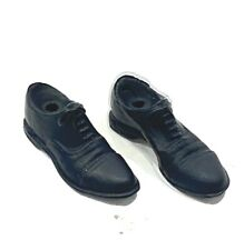 MM-SHOE: 1/12 scale black dress shoes for Mezco body